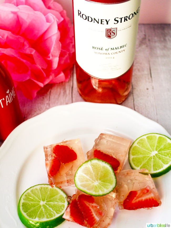 Drink Bliss: Rosé Strawberry Lime Jello Shots