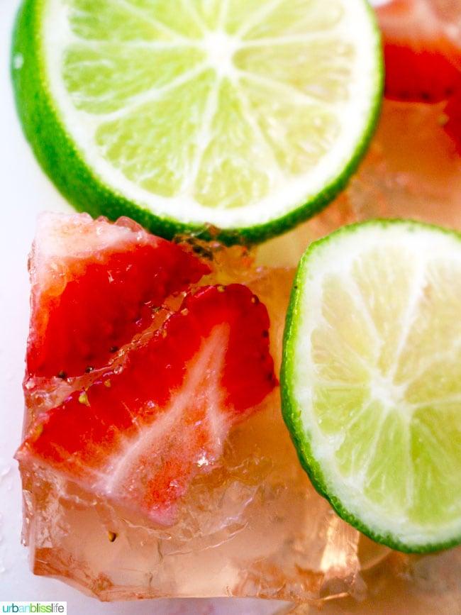 Rosé Strawberry Lime Jello Shots recipe on UrbanBlissLife.com