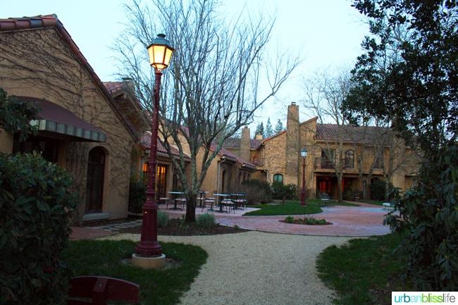 Outside of Vintners Inn in California