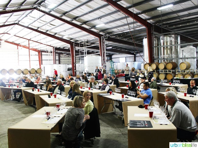 Riedel wine glass class at Dobbes Family Estate winery