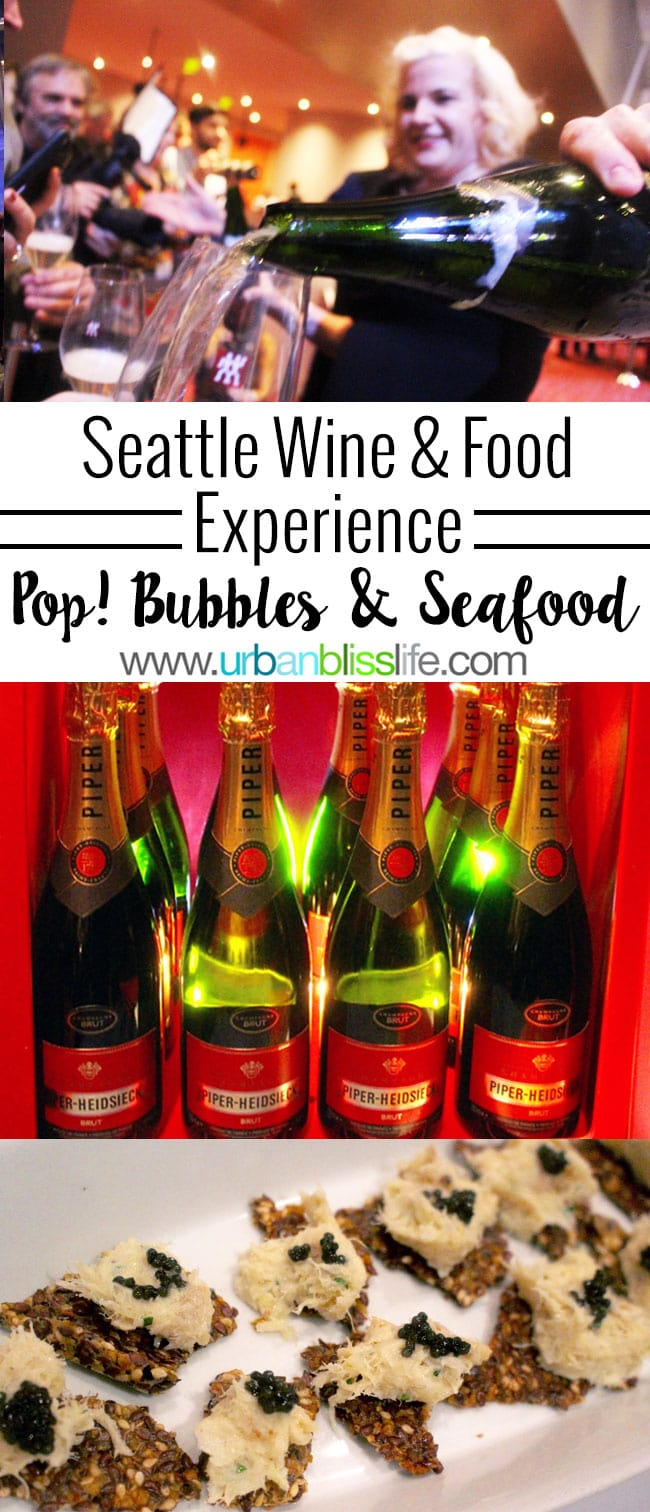 Seattle Wine & Food Experience: POP! Bubbles & Seafood event, on UrbanBlissLife.com