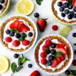 Easy Spring Mini Fruit Tarts recipe on UrbanBlissLife.com