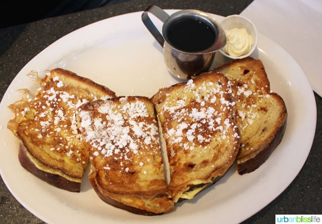 french toast at Floyd's Diner in victoria bc