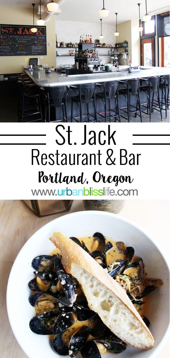 Portland French restaurant: St Jack Restaurant and Bar on UrbanBlissLife.com