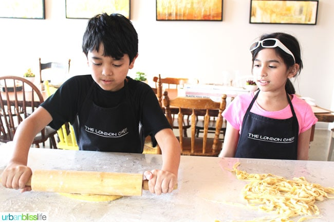 Cooking Classes in Victoria BC: kids making pasta