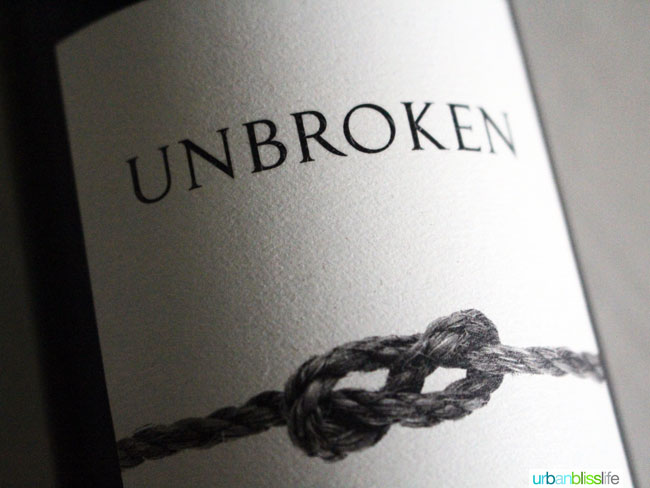 Unbroken red wine