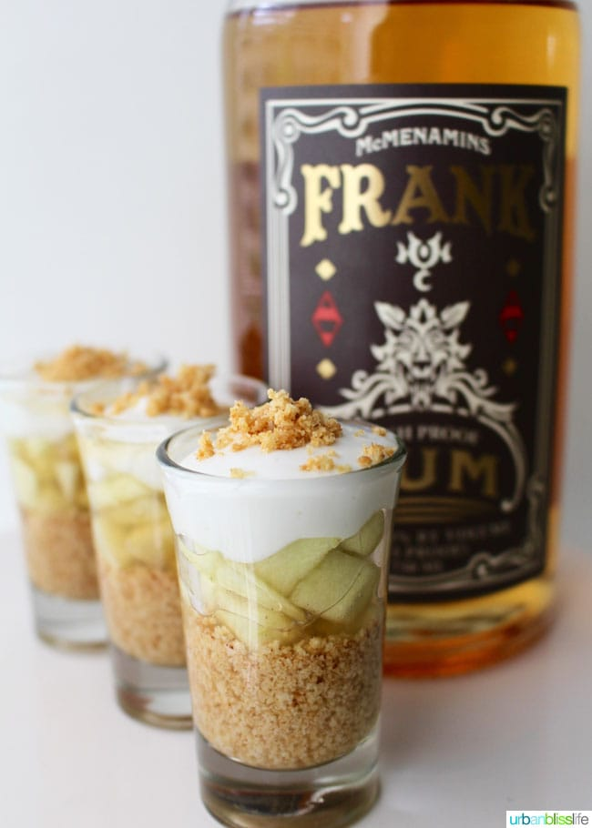 Boozy Apple Pie Shots recipe on UrbanBlissLife.com