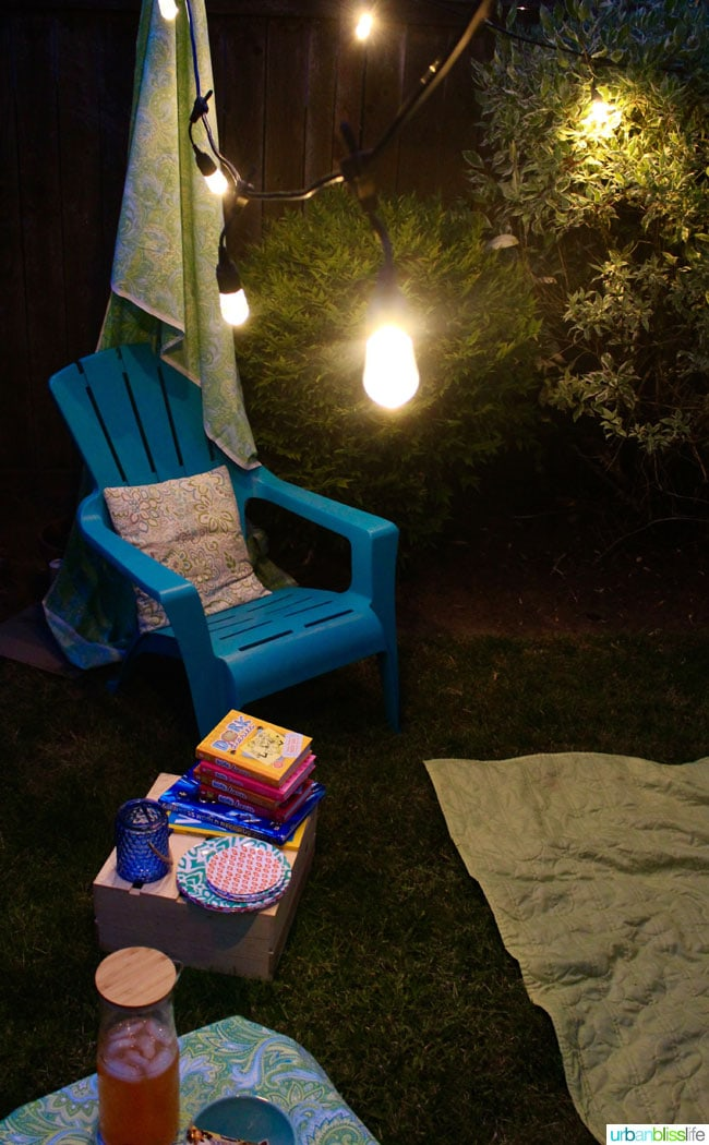 Tiny Backyard Ideas: Creating a cozy outdoor summer space, on UrbanBlissLife.com