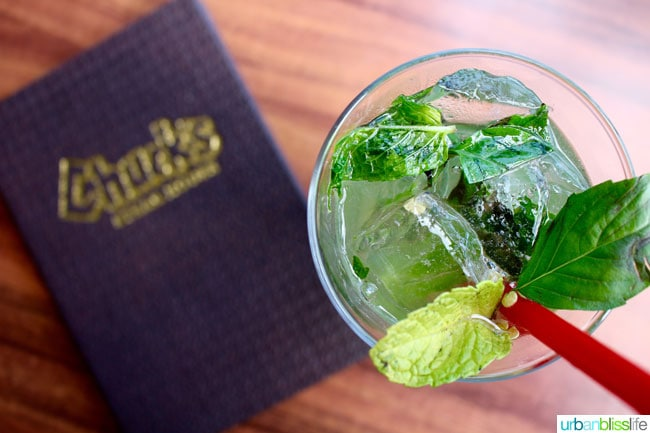 chuck's steak house tequila mojito