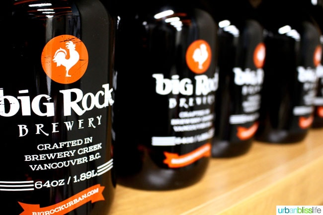 Big Rock Brewery growlers