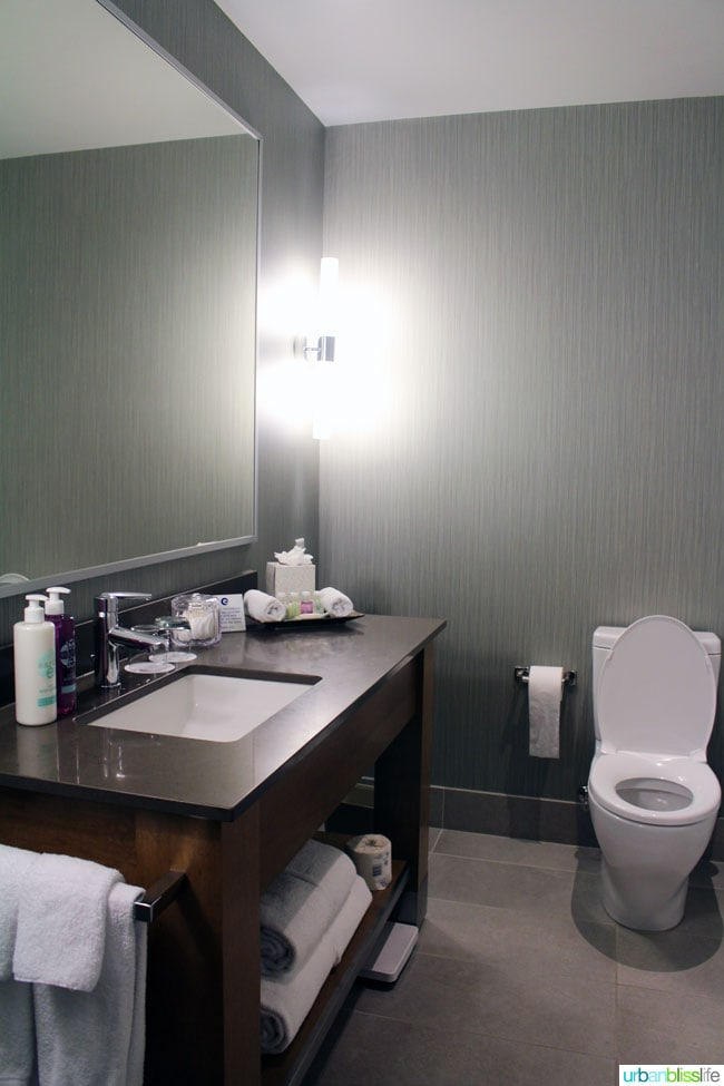 Coast Coal Harbour Hotel guest room bathroom