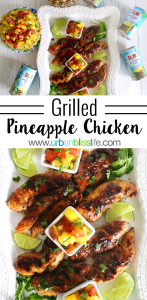 Grilled Pineapple Chicken recipe on UrbanBlissLife.com