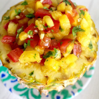 Grilled Pineapple Salsa recipe on UrbanBlissLife.com