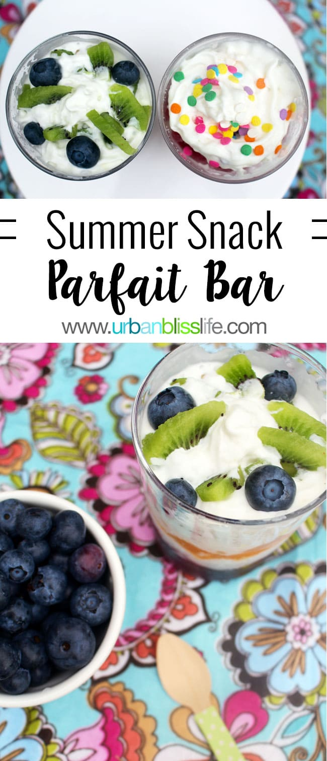 Summer Snack Parfait Bar on UrbanBlissLife.com