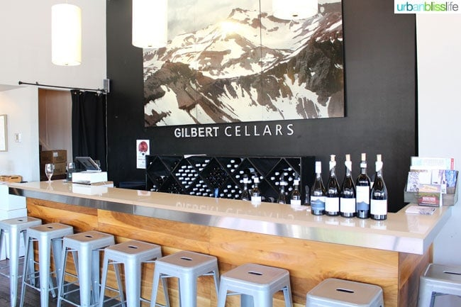 Gilbert Cellars tasting room