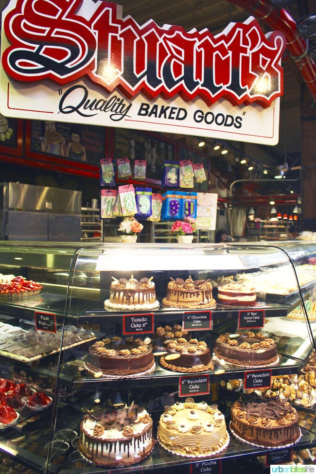 cakes in granville island public market