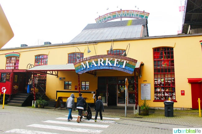 Things to do In Granville Island: kids market