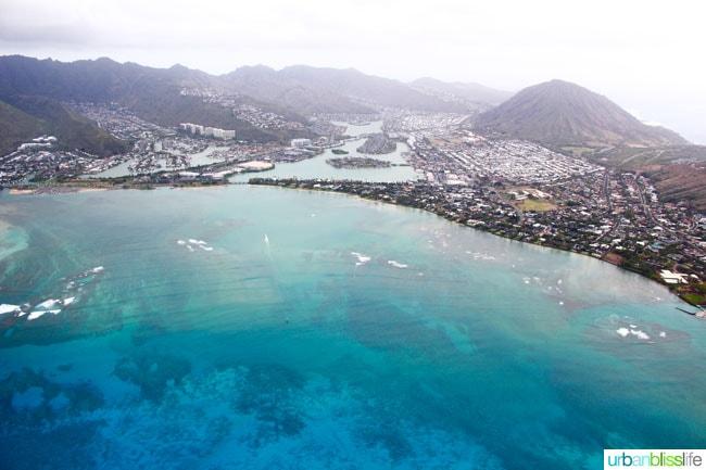Helicopter Ride over Oahu Island, Hawaii. Amazing scenic photos on UrbanBlissLife.com