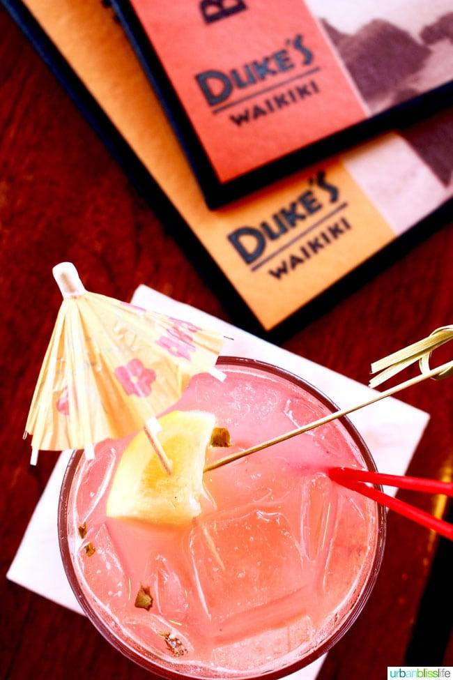 drinks at Duke's Waikiki