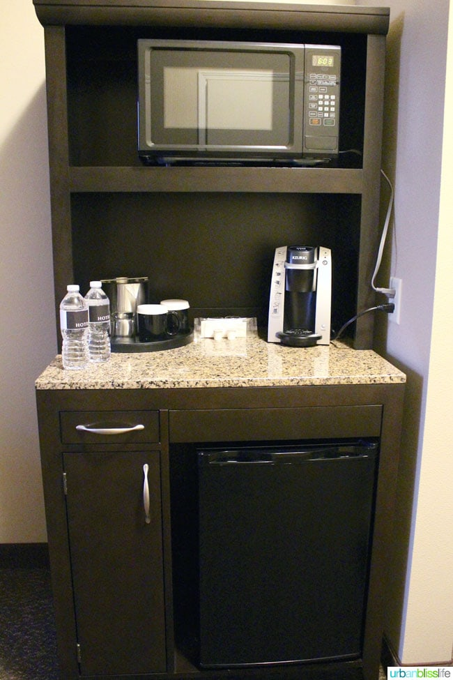 room minibar at Hotel Maison in Yakima