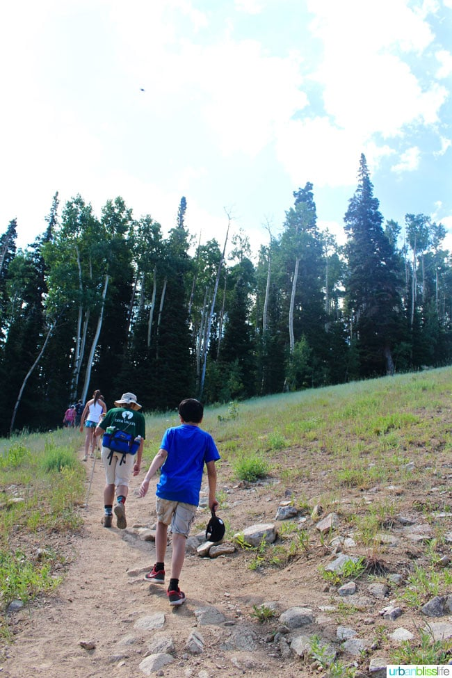 people hiking the Silver Lake Trail near Park City, Utah