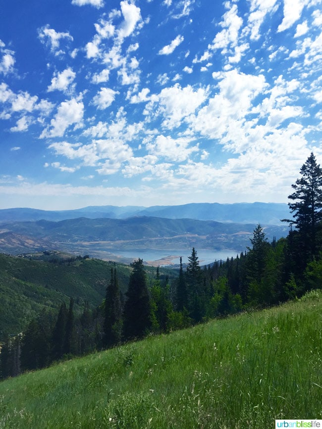 breathtaking view atop Silver Lake Trail near Park City, Utah