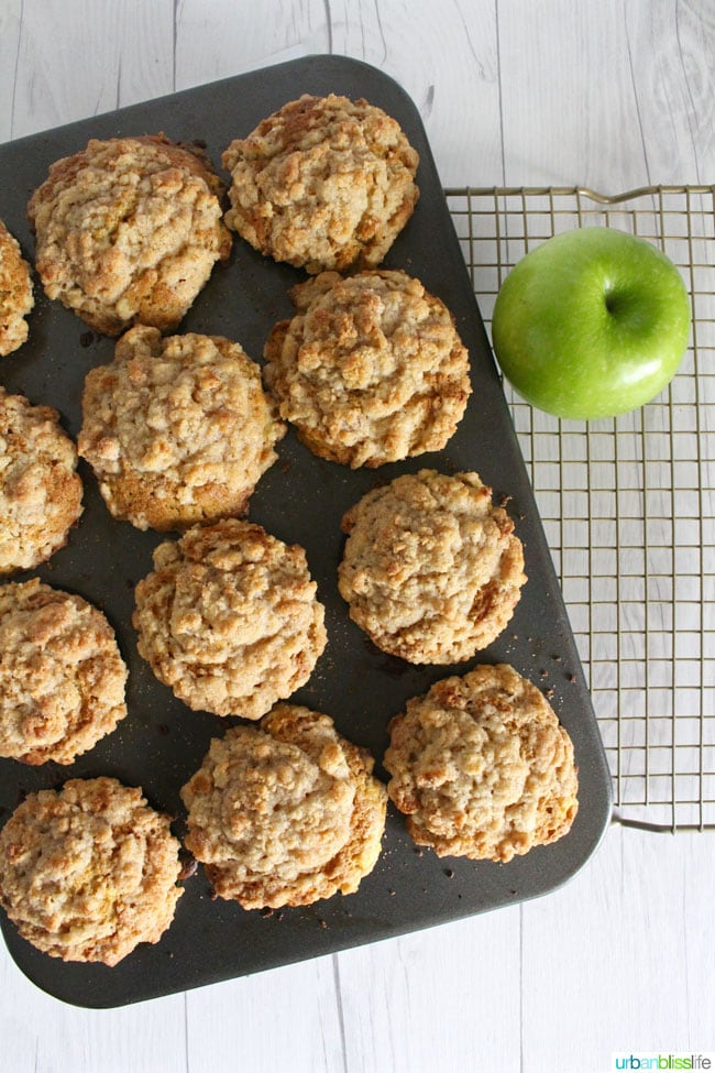 Apple Cinnamon Muffins in baking pan