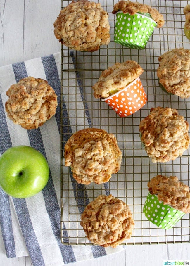 Healthy Apple Cinnamon Muffins (with carrots and zucchini!)