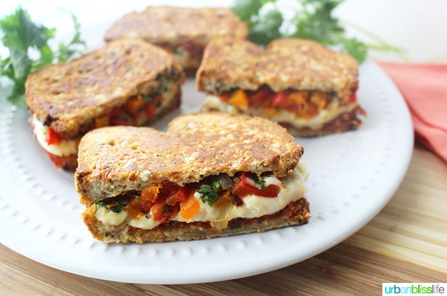 Chorizo Queso Peppers Panini sandwiches