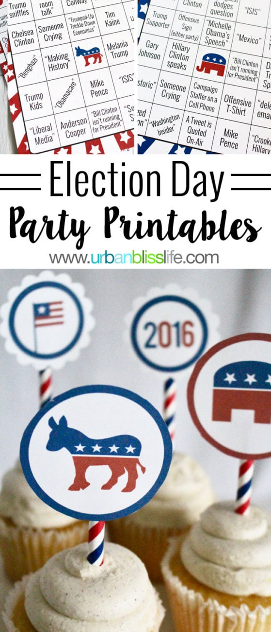 Party Bliss: Election Day Printables