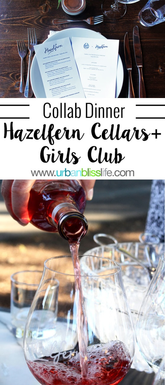 WINE BLISS: Hazelfern Cellars + Girls Club Dinner