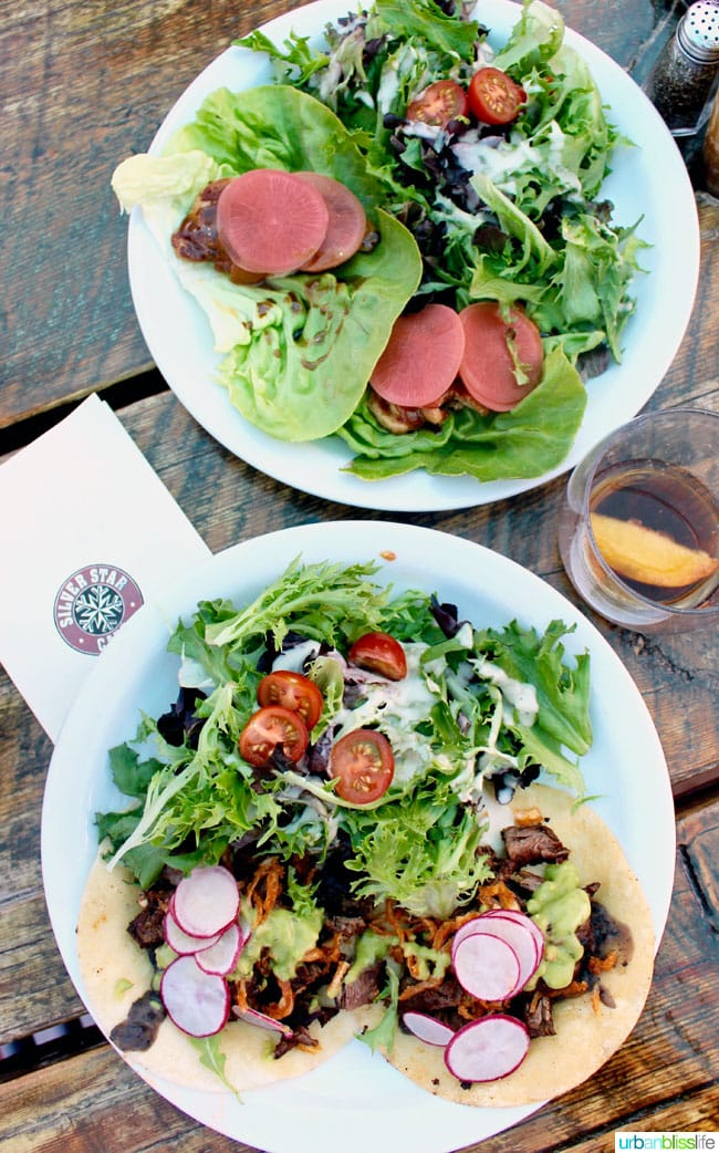 Salads at Silver Star Cafe