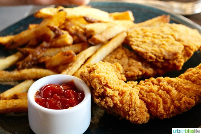 chicken tenders and fries at Tupelo restaurant
