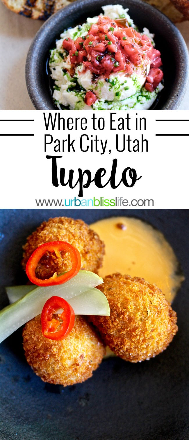 Tupelo restaurant in Park City, Utah serves artisan-sourced, globally inspired cuisine. Restaurant review on UrbanBlissLife.com