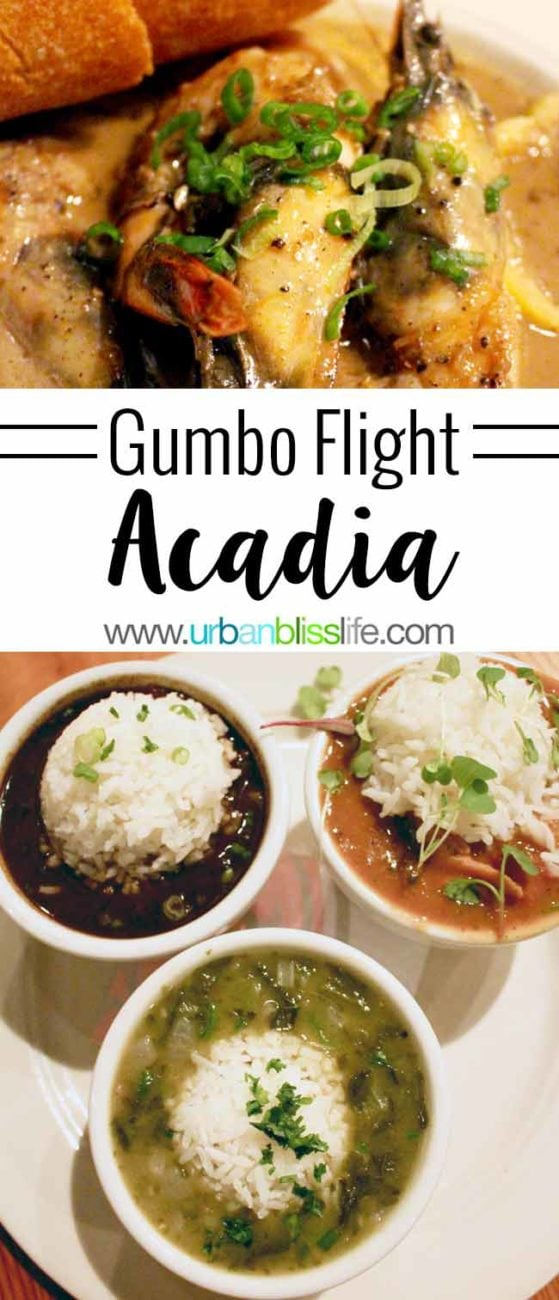 FOOD BLISS: Acadia's Gumbo Flight Returns!