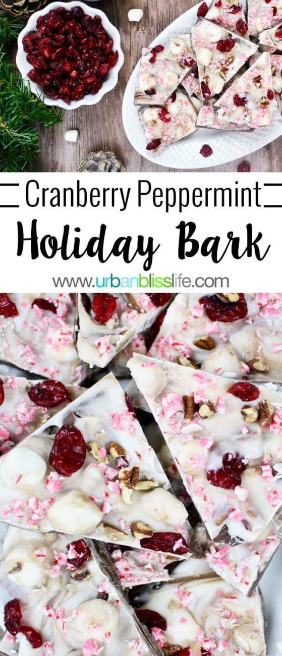 FOOD BLISS: Easy Cranberry Peppermint Holiday Bark