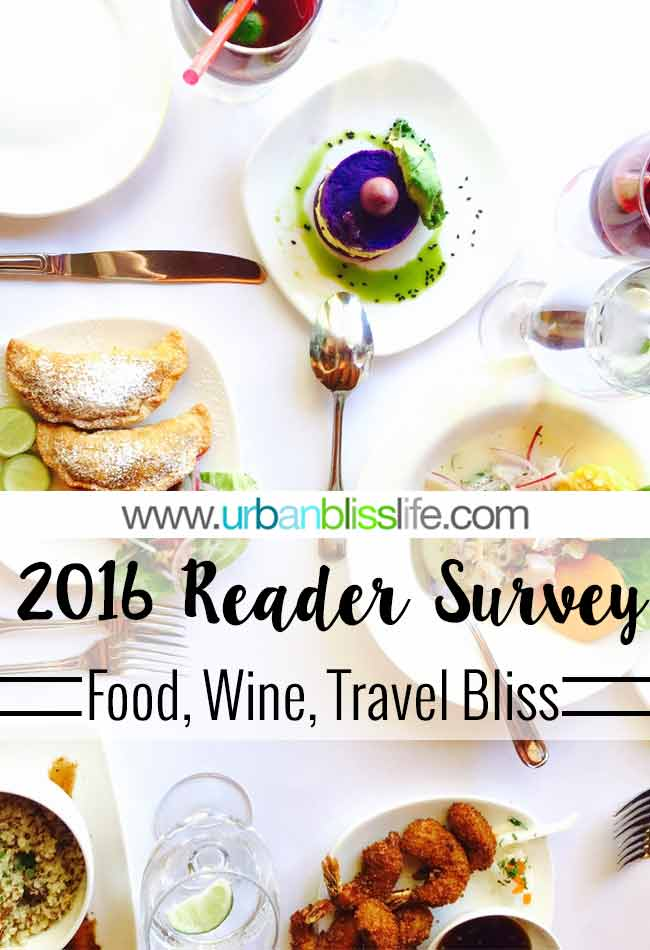 2016 Urban Bliss Life Reader Survey