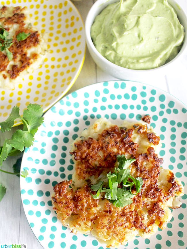 Fritters on plate