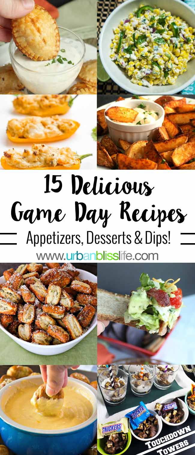 Football Party Finger Food - 15 Best Game Day Recipes on UrbanBlissLife.com