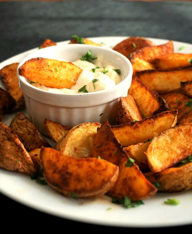 Football Party Finger Food - potato wedges