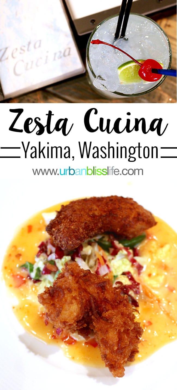 Zesta Cucina restaurant offers casual fine dining in Yakima, Washington. Restaurant review on UrbanBlissLife.com