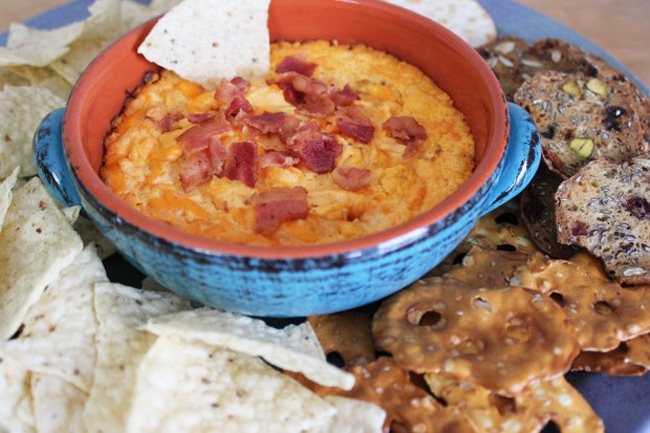 Football Party Finger Food - bacon dip