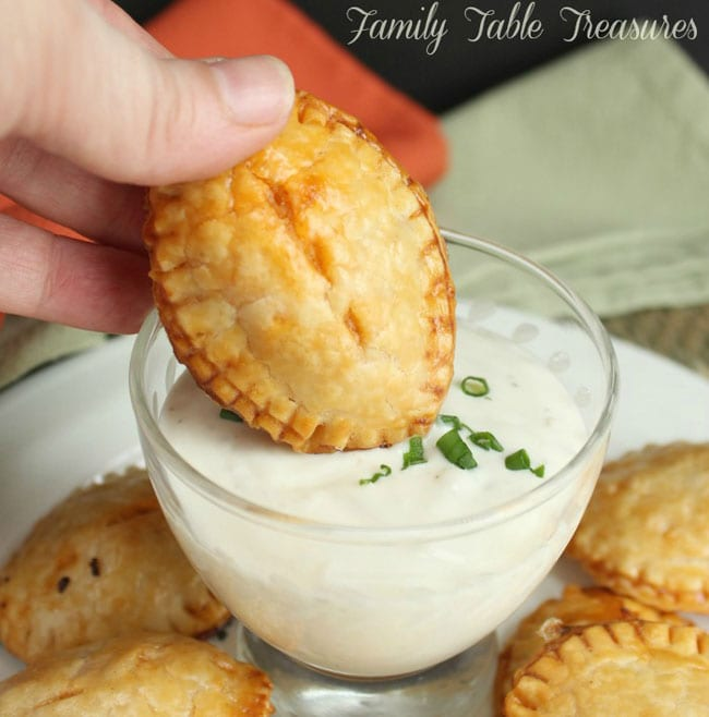 Football Party Finger Food- appetizer in dip