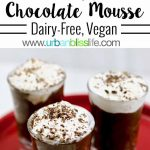 Avocado Chocolate Mousse is dairy-free, vegan, and DELICIOUS! Recipe on UrbanBlissLife.com