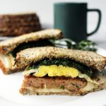 Healthier Sausage and Egg Breakfast Sandwich recipe on UrbanBlissLife.com