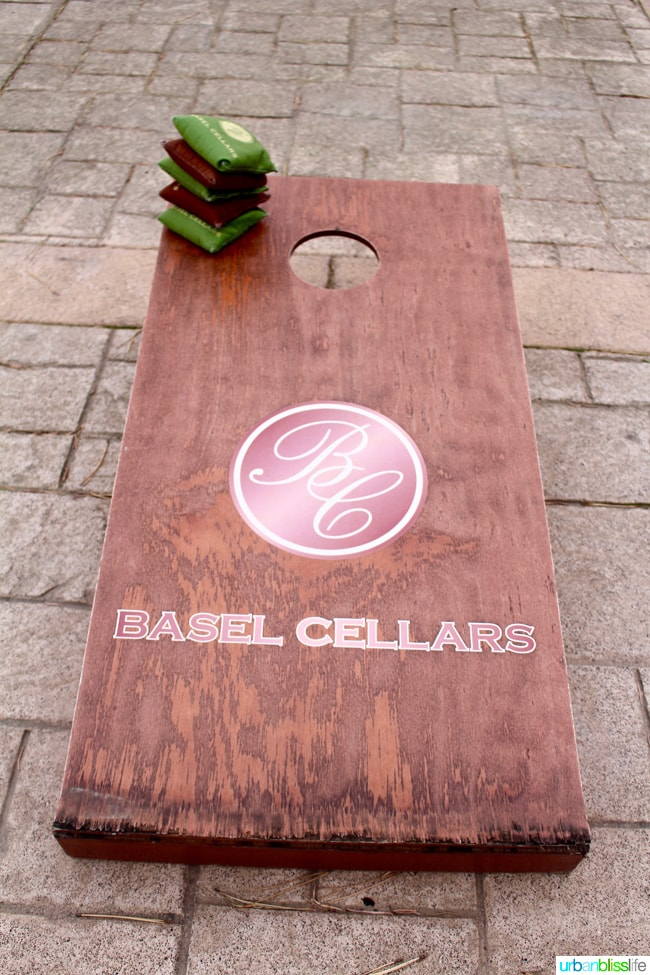 Basel Cellars cornhole
