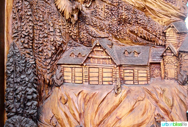 wood carved house