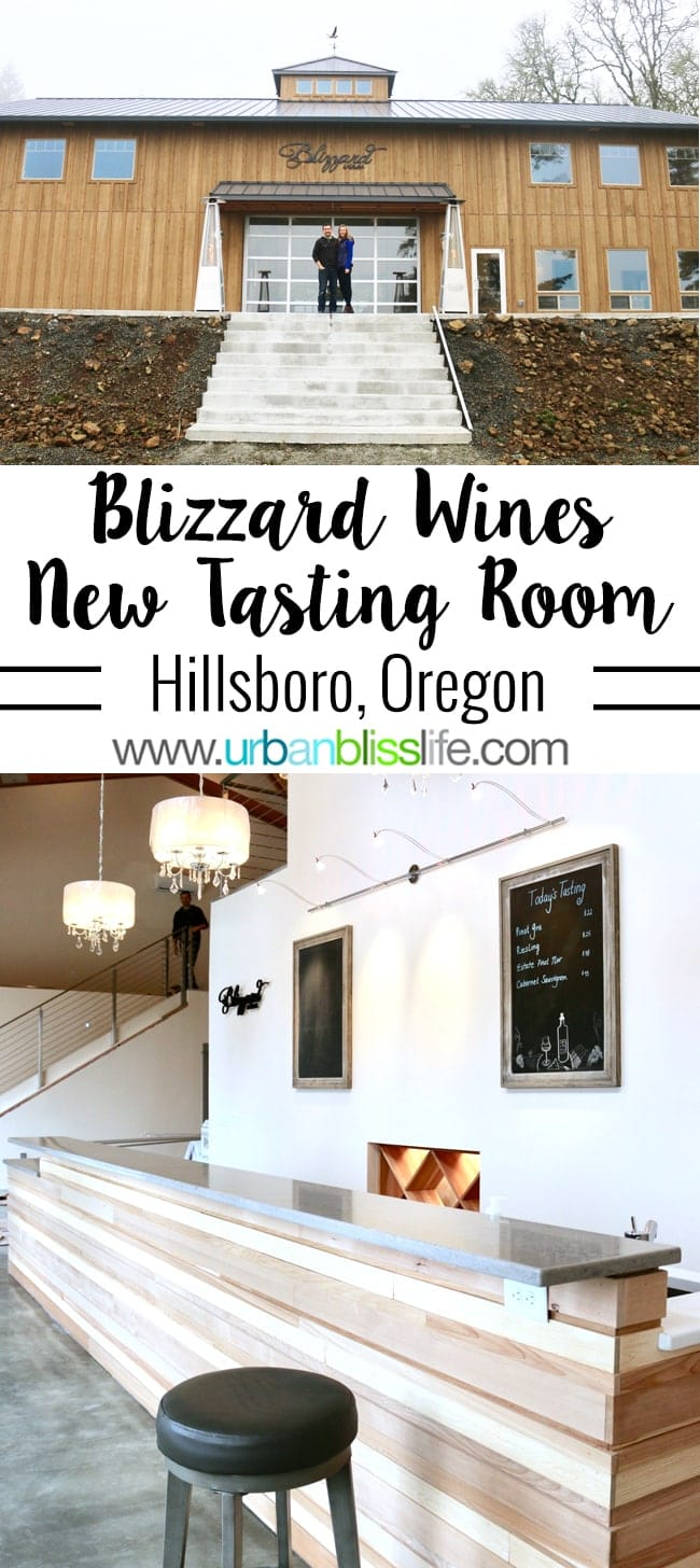 Hillsboro Wineries - Blizzard Wines tasting room on UrbanBlissLife.com