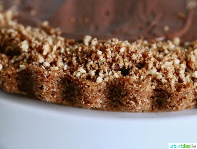 Decadent Delicious Hazelnut Chocolate Pie recipe on UrbanBlissLife.com