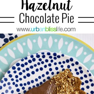 Decadent Delicious Hazelnut Chocolate Pie recipe on UrbanBlissLife.com